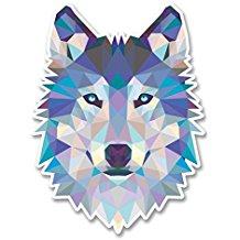 pegatina de lobo