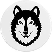 pin de lobo redondo