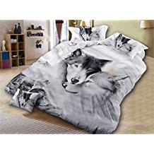 ropa de cama de lobo