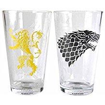 vasos con lobos de Juego de Tronos