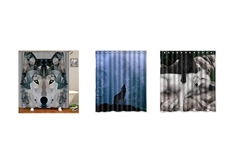 cortinas de ducha de lobos