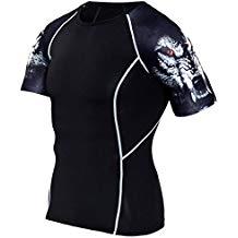 camiseta fitness de lobo