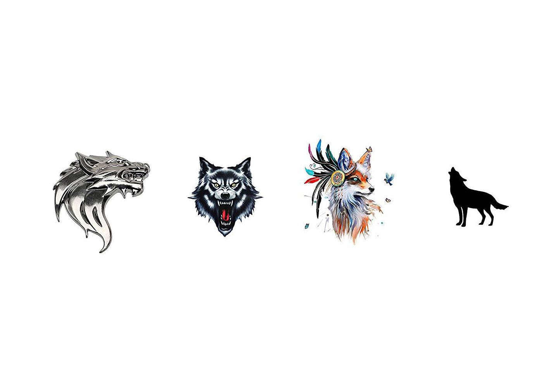 pegatinas de lobos