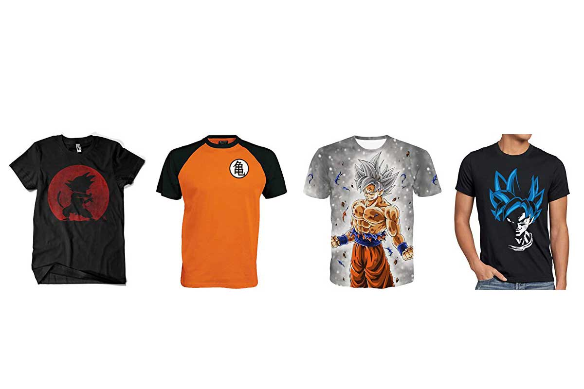 camisetas de dragon ball